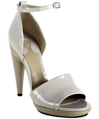 Chloe Fog Patent Leather 'Chic' Sandals $464 @ Bluefly