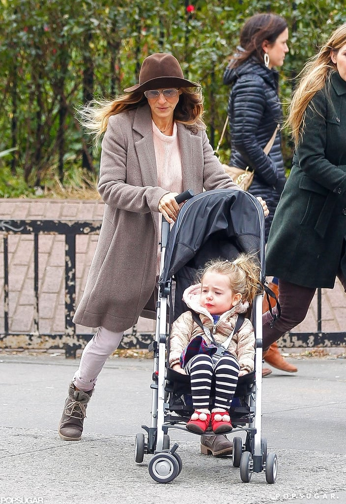 Sarah Jessica Parker strolled with Tabitha Broderick.