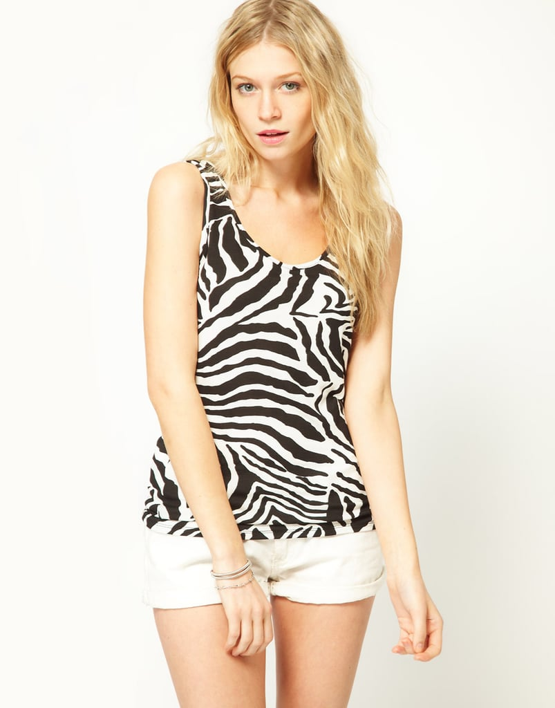 Pair this animal-print tank with shorts for the weekend or tuck it into a pencil skirt to make it office-appropriate.  Asos Zebra Print Top ($22)