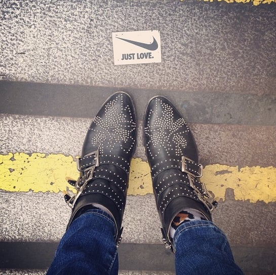 We just love Jamie Chung's studded boots. Source: Instagram user jamiejchung