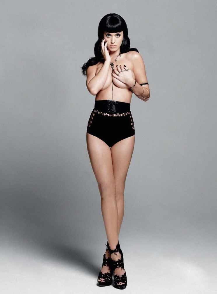 Katy went topless for the August 2010 issue of Esquire UK.