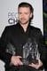 Justin held his awards.