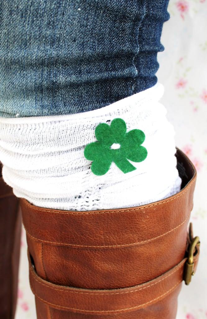 St. Patrick's Day ruffle boot cuffs ($17)