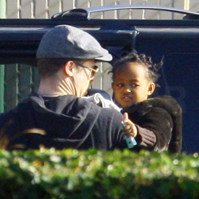 Photo of Brad Pitt and Zahara Jolie-Pitt Out in LA