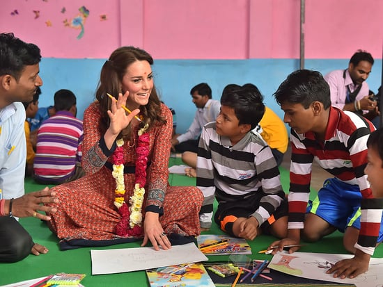 'Shall I Do a Drawing for You?' Princess Kate Sits on Floor and Charms Kids in India - Then Gets Glam with Prime Minister