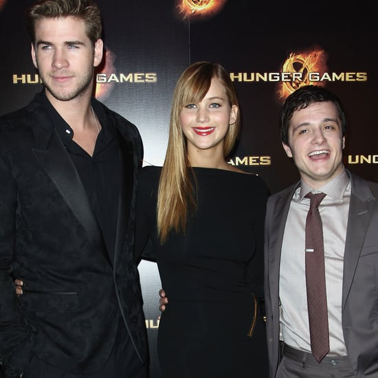 Jennifer Lawrence, Liam Hemsworth Hunger Games Paris Pictures