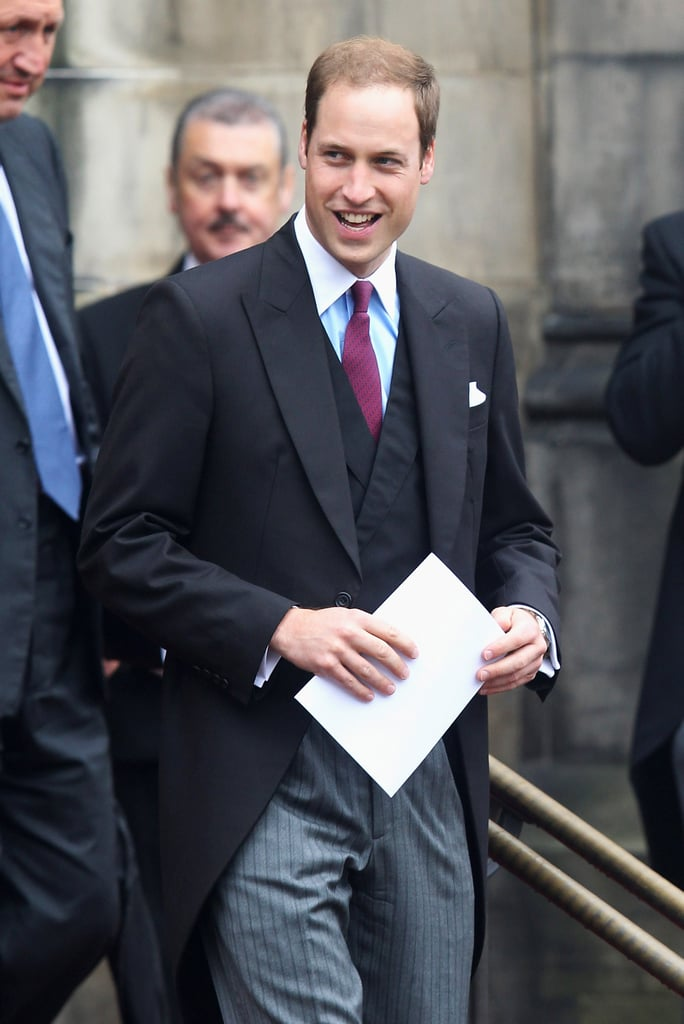 Prince William wore a jacket and tie for his Thistle Ceremony in Scotland.