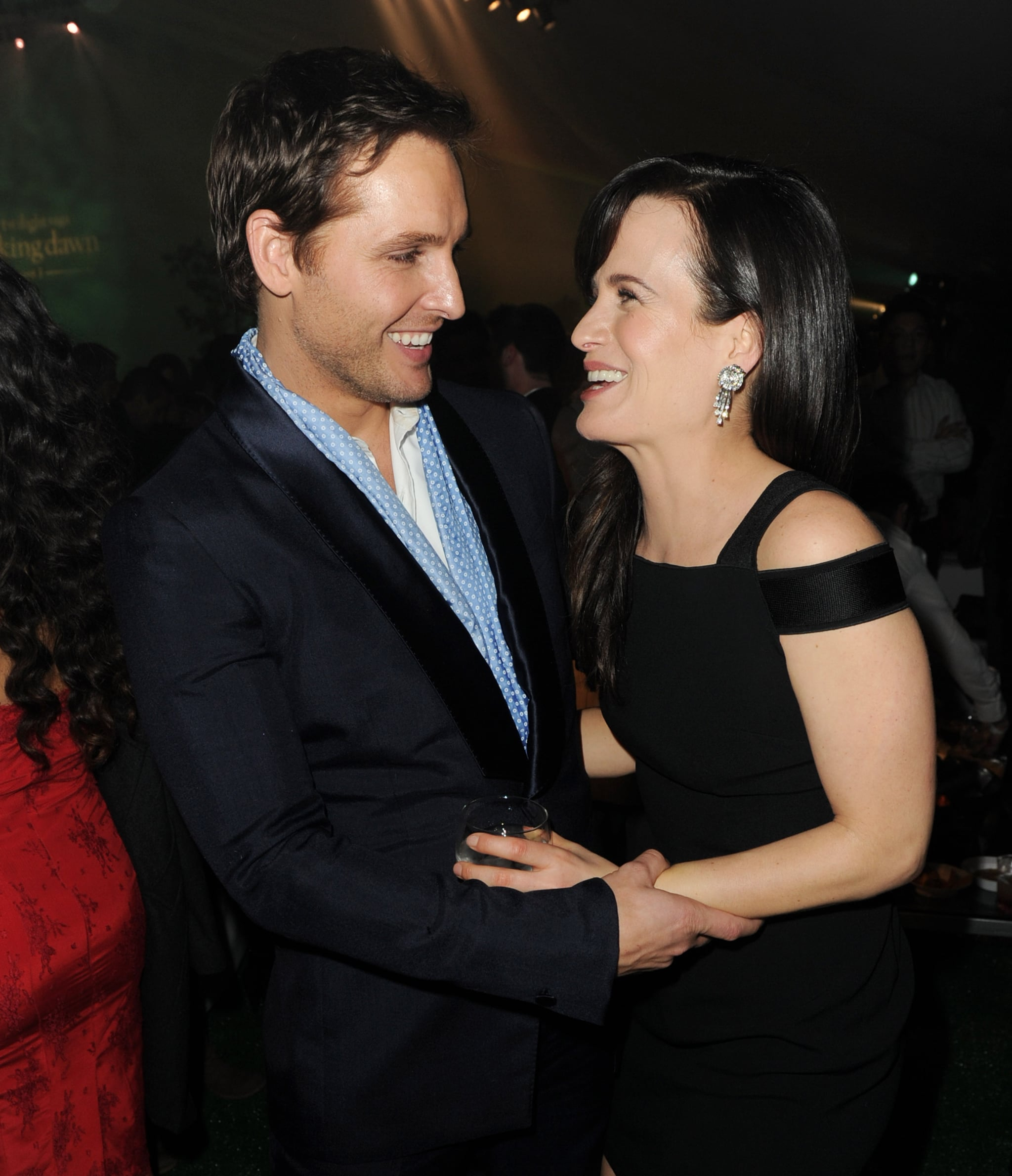 Elizabeth Reaser and Peter Facinelli shared funny stories at the Breaking Dawn LA premiere party.