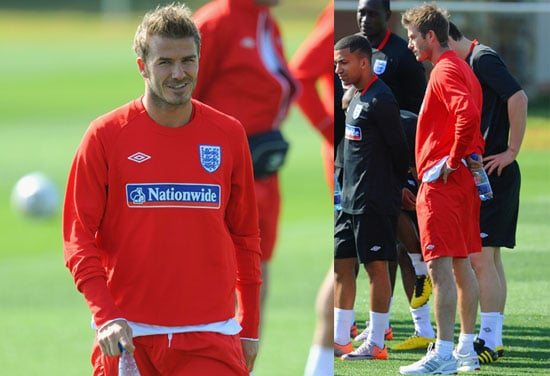 Pictures of David Beckham Warming Up Before World Cup 2010-06-04 16:30:25
