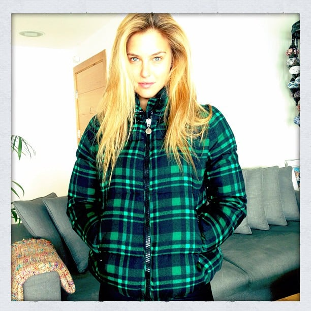 Bar Refaeli showed off her new Moncler jacket. Source: Instagam user barrefaeli