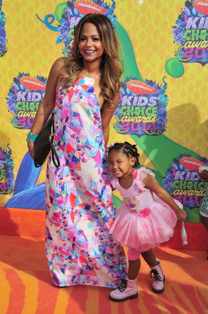 Christina Milian had fun with daughter Violet Madison Nash.