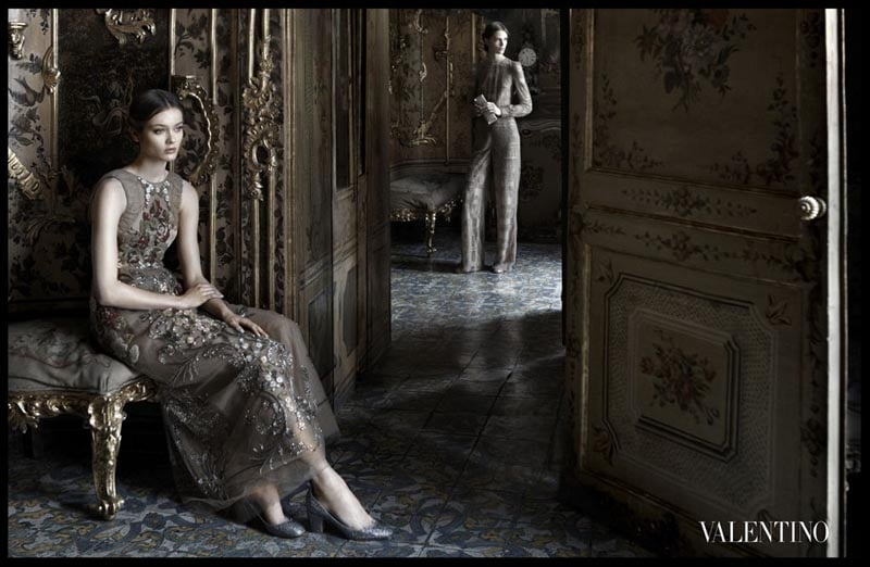 Valentino spared no romantic detail in its dreamy Fall ad campaign.