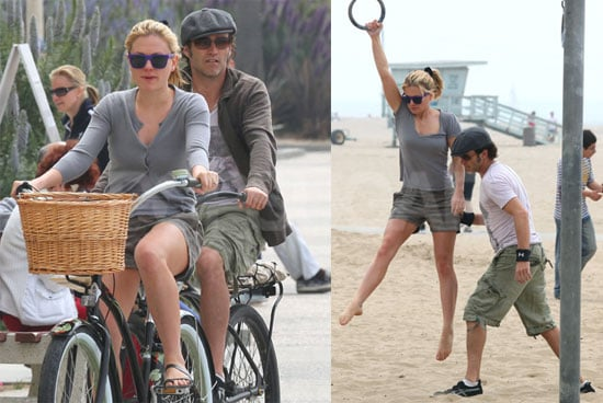 Pictures of Anna Paquin and Stephen Moyer Playing Around at Santa Monica Beach