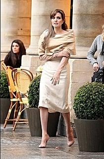 Angelina on set: The Tourist