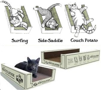 The Original Scratch Lounge For Cats