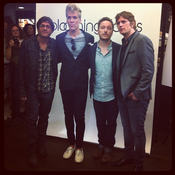 Matchbox 20 were among the famous faces that popped up at Bloomingdale's during FNO. Source: Instagram user bloomingdales