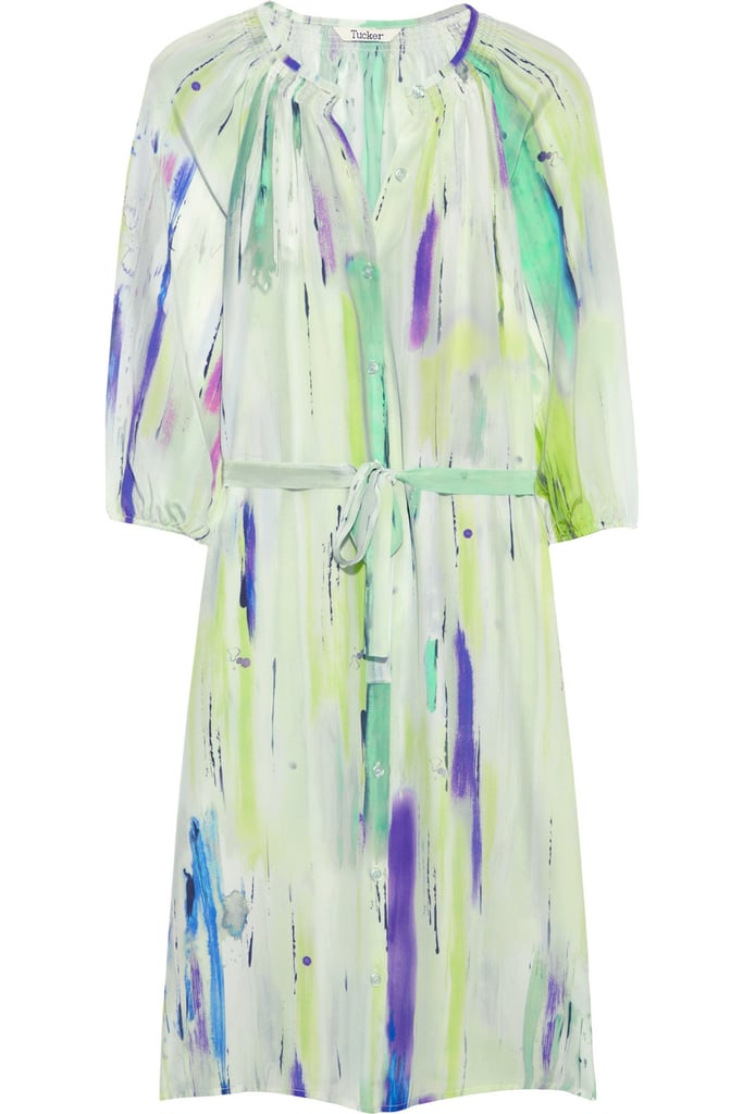 Having an outdoor rehearsal? This pretty painterly dress would look great out in the sun.  Tucker Belted Print Dress ($365)