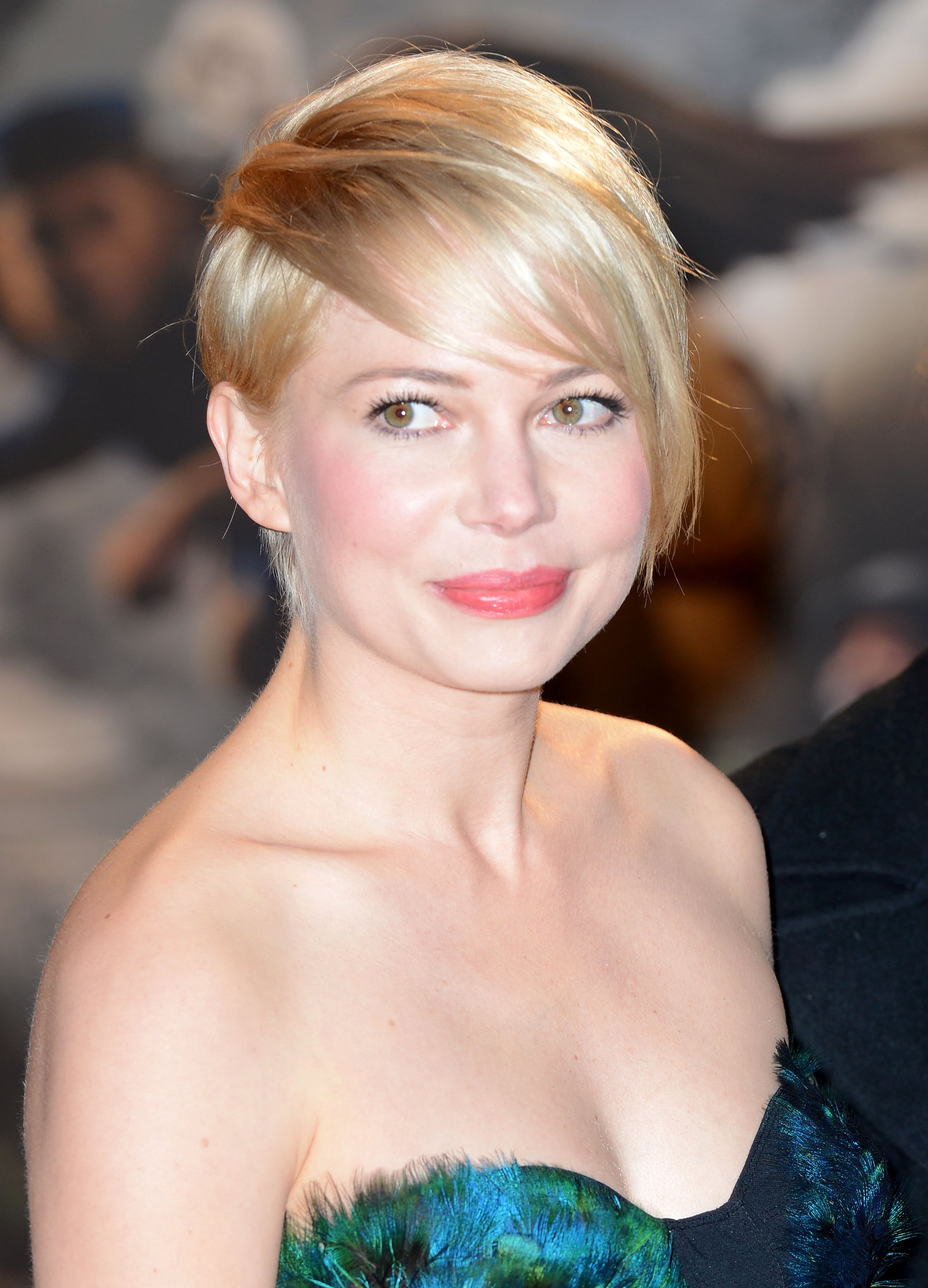 In an attempt to grow out her beloved pixie, Michelle is now sporting an asymmetrical look that harks back to the undercut look of the '80s.