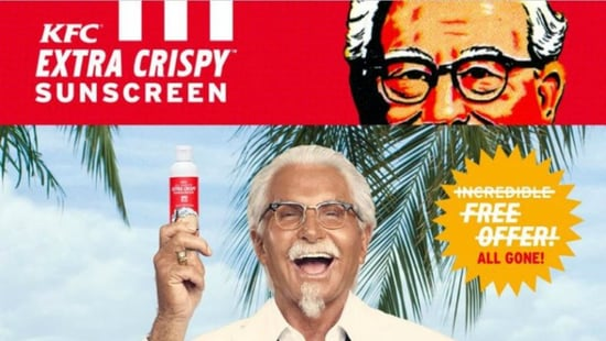KFC Released A Fried Chicken-Scented Sunscreen & It Already Sold Out
