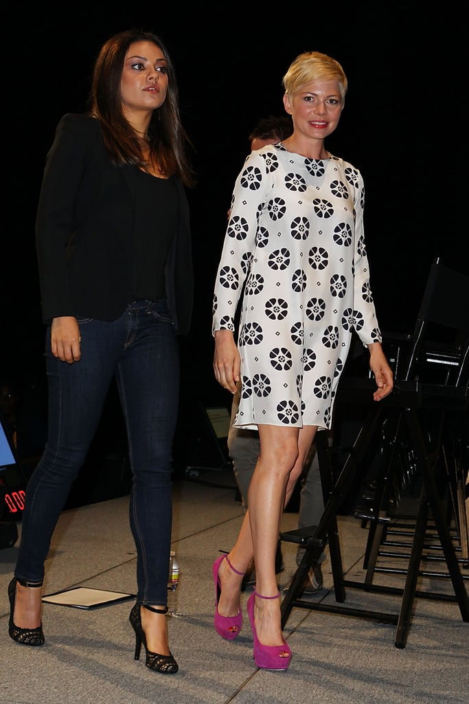 Michelle Williams and Mila Kunis took the stage at Comic-Con.