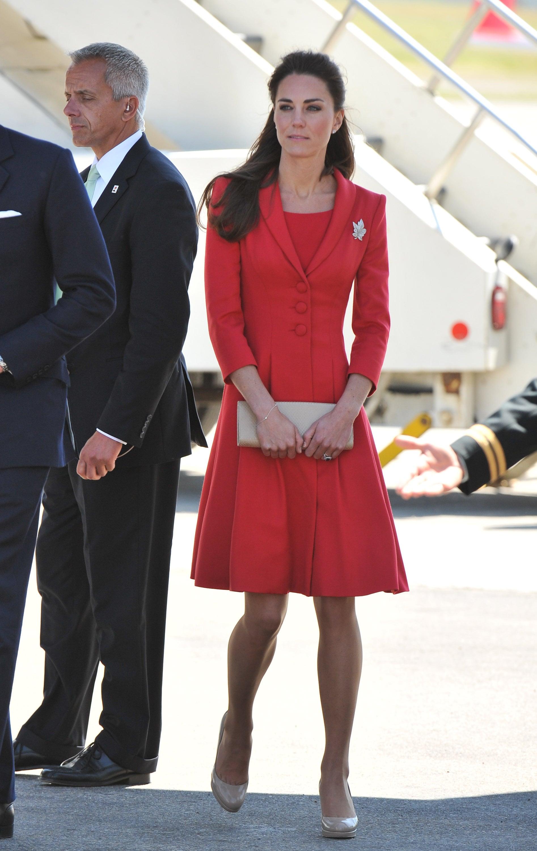 Kate Middleton Arriving in Calgary in 2011