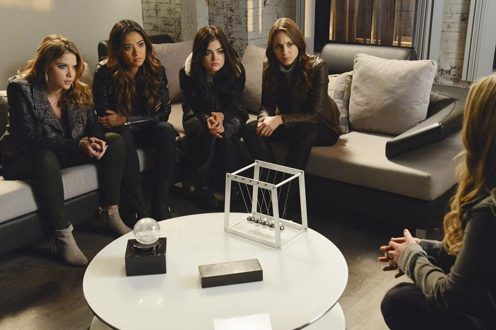Ali has a sit-down with the girls. Is it finally time to get some answers? Source: ABC Family