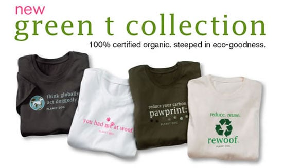 New Product Alert! Planet Dog Green T Collection