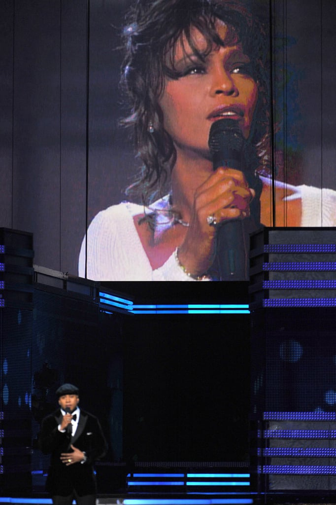 LL Cool J said a prayer for Whitney Houston.