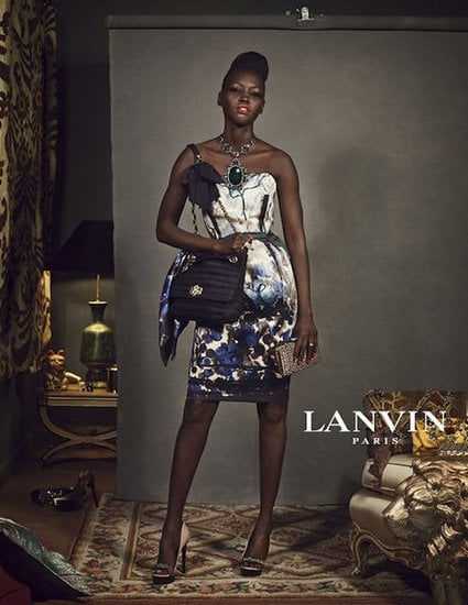 Lanvin's old school glamour borders on quirky campiness.