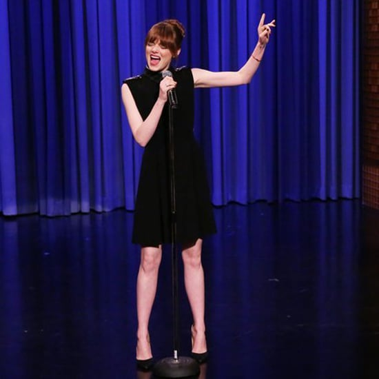 Emma Stone Lip Syncing on The Tonight Show 2014