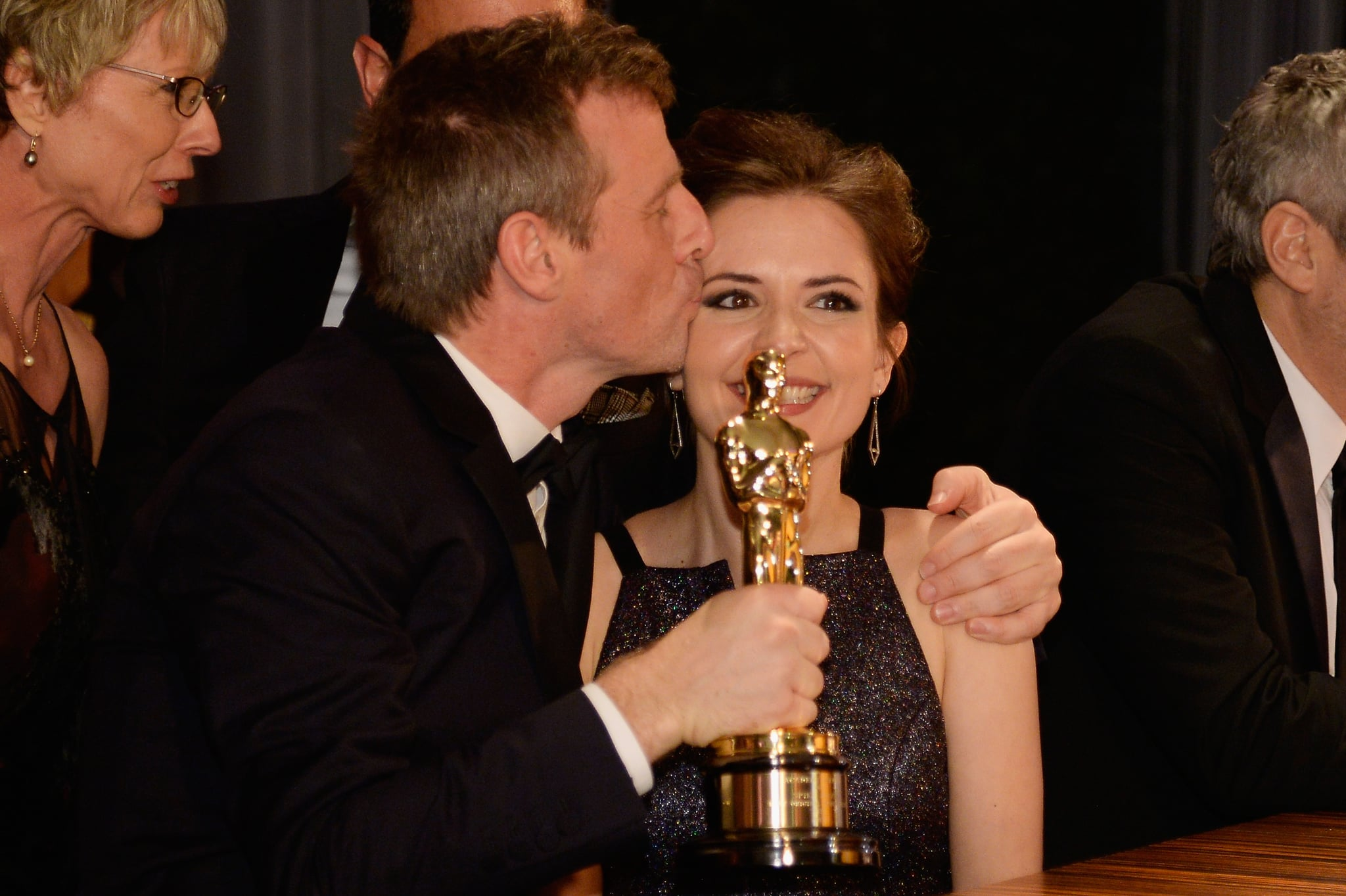 Spike Jonze looked happy about his win.