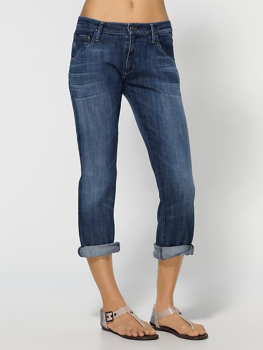 """Goldsign Hisjean Cropped Boyfriend Jeans ($202) Denim expert soundoff: """"This boyfriend jean is for a girl who is not too curvy in the hips with a tomboy attitude."""" — Adriano Goldschmied, Goldsign founder and creative director"""
