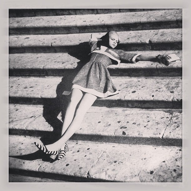 Poppy Delevingne shared this snap of her sister Cara, as spotted in W Magazine. Source: Instagram user poppydelevingne