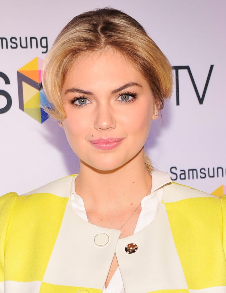 Kate Upton was looking polished at a Samsung event earlier this week in a casual ponytail and pretty pink lipstick.