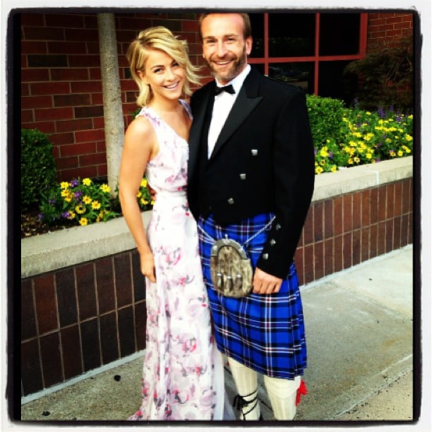 """Julianne Hough headed to a wedding with her """"handsome Scottish date."""" Source: Instagram user juleshough"""