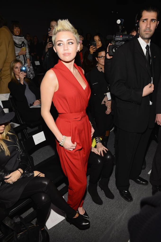 Miley Cyrus Brings a Bright Look to NYFW With Her Mom Tish