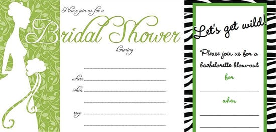 Bridal Shower and Bachelorette Party Invitations