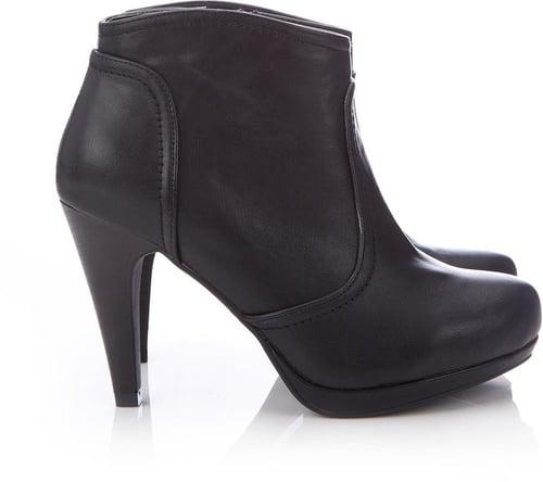 Black Platform Ankle Boot