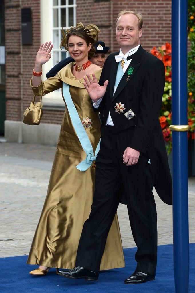 Carlos, Duke of Parma, and Annemarie Gualthérie van Weezel waved.