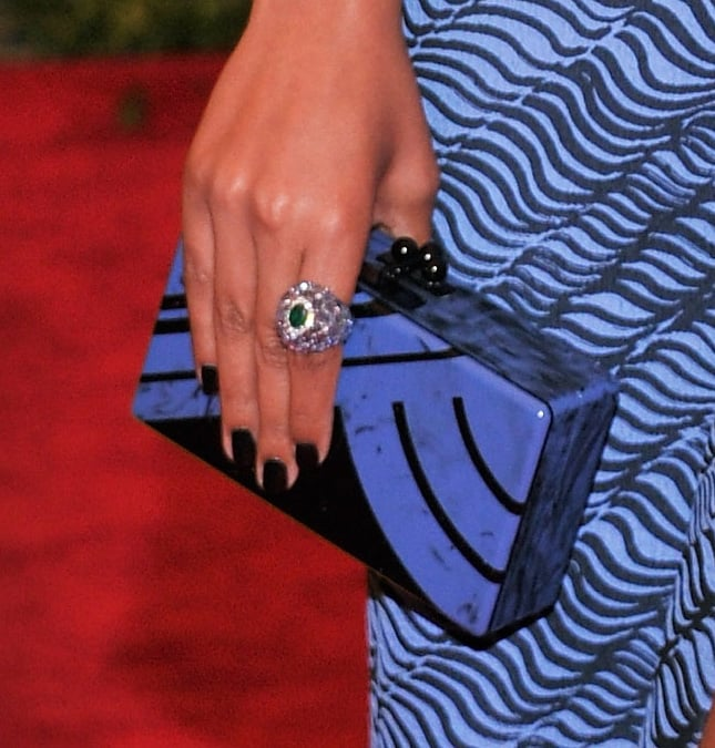 Solange Knowles carried an Edie Parker box clutch.