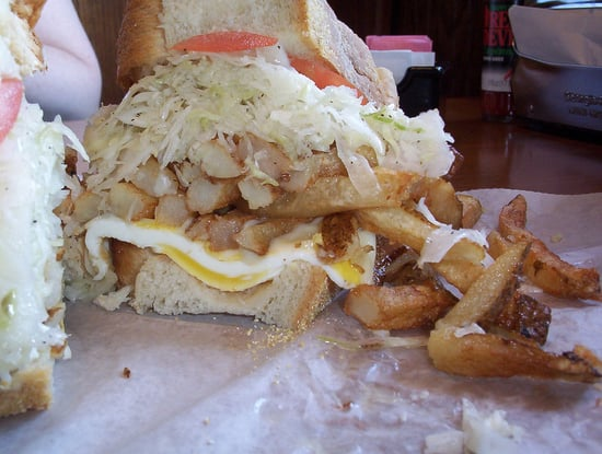 Would You Eat This Fried Egg and Fries Sandwich?