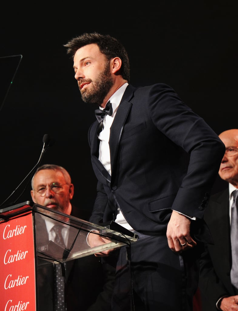 Ben Affleck accepted an award on behalf of the Argo cast.
