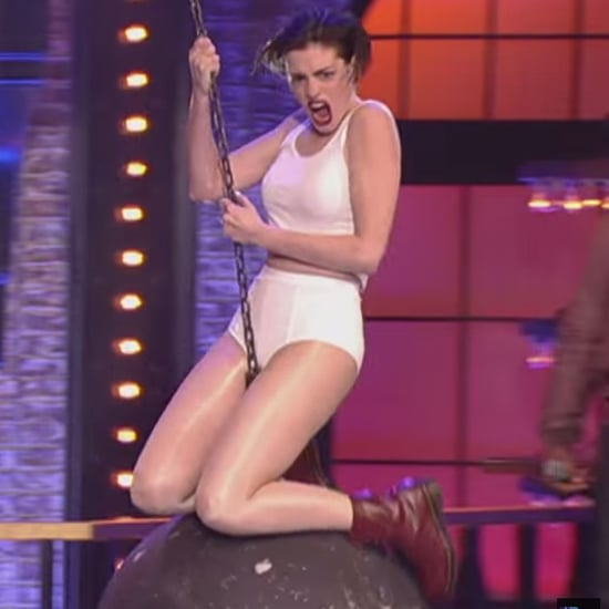 """Anne Hathaway Performs """"Wrecking Ball"""" on Lip Sync Battle"""