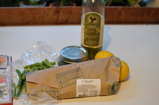 Salmon with Green Bean and Spinach Pesto