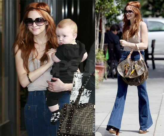 Photos of Ashlee Simpson Carrying Bronx Wentz in LA