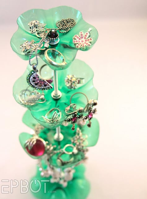 Plastic Bottle Jewelry Stand