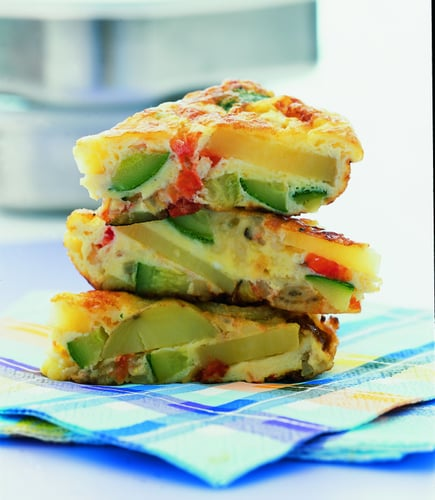 Spanish Omelet with Potatoes, Zucchini and Tomato