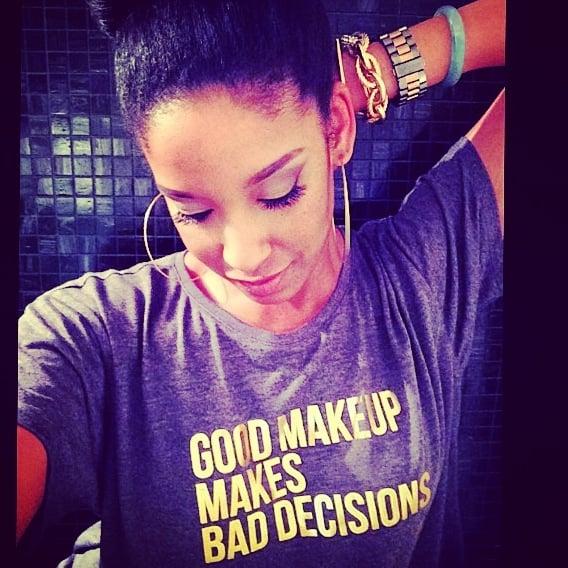 Good Makeup Makes Bad Decisions Crop Top