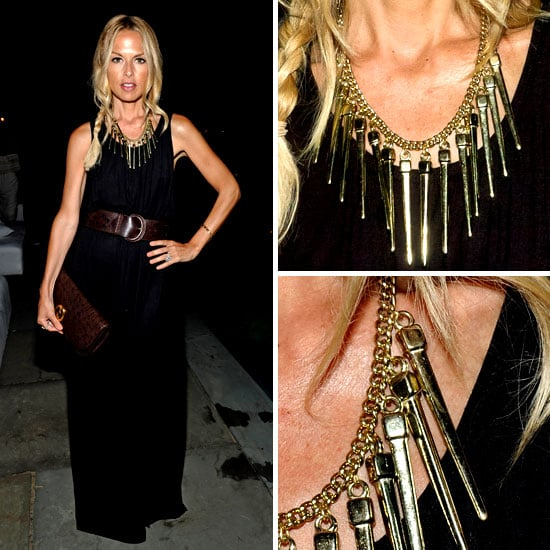Rachel Zoe Style: Black Dress and Necklace