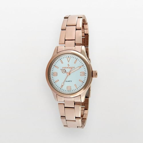 Peugeot stainless steel rose gold tone watch - 7065rg - women